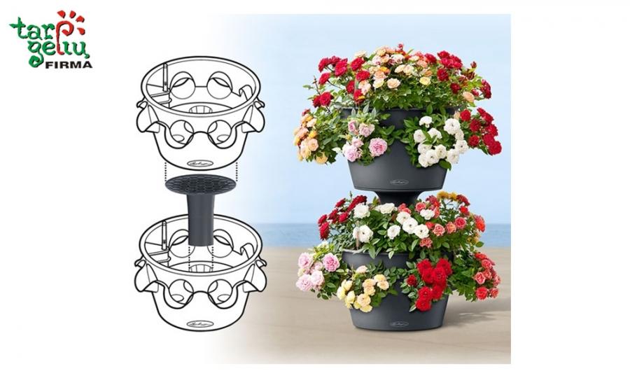 Montuojamų lauko vazonų privalumus