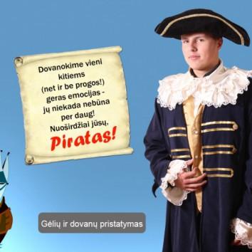 Tegul kolegą tegul pasveikina… piratas!