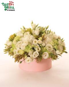 Gėlių dėžutė su eustomomis