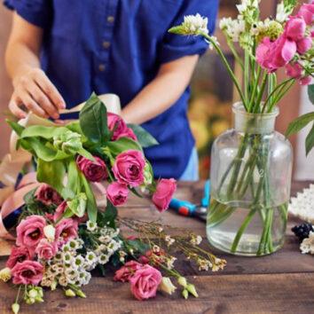 Skintų gėlių priežiūra