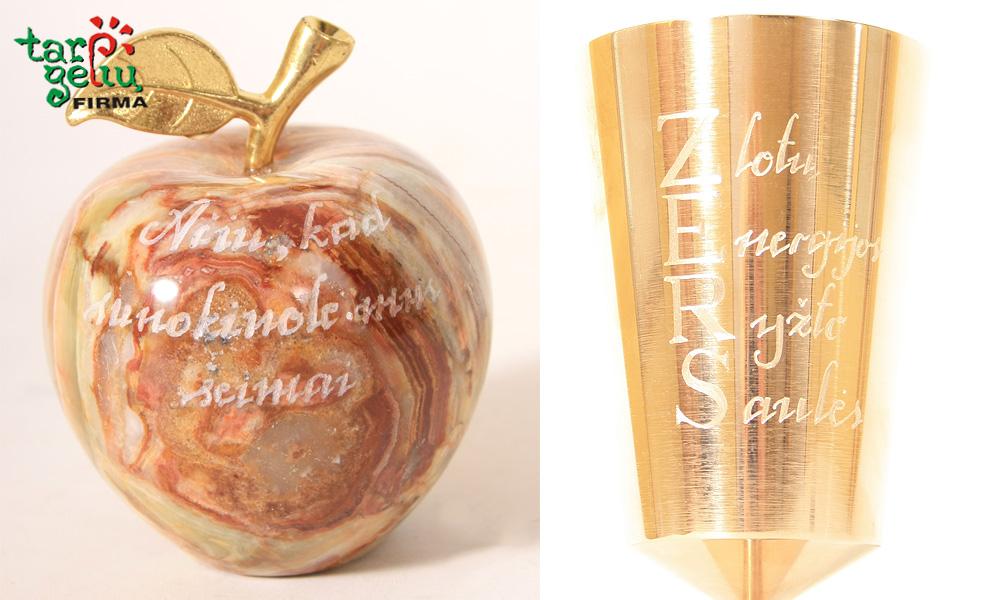 Graviravimas ant onikso obuolių