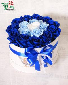 """Miegančių rožių dėžutė """"Aqua Blue"""""""
