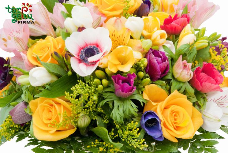 Skintų gėlių deriniai