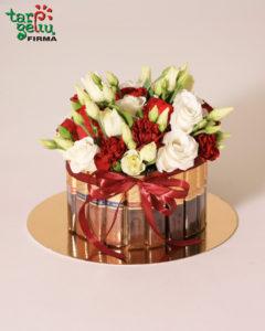 Saldus komplimentas - gėlės ir saldainiai