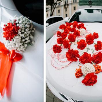 Vestuvinio automobilio papuošimas