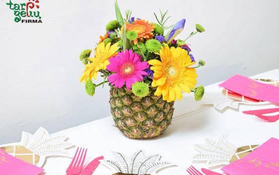 Vasaros idėja. Vaisiai vietoje vazų