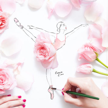 Tai įdomu. Piešinio, gėlių ir emocijų sintezė
