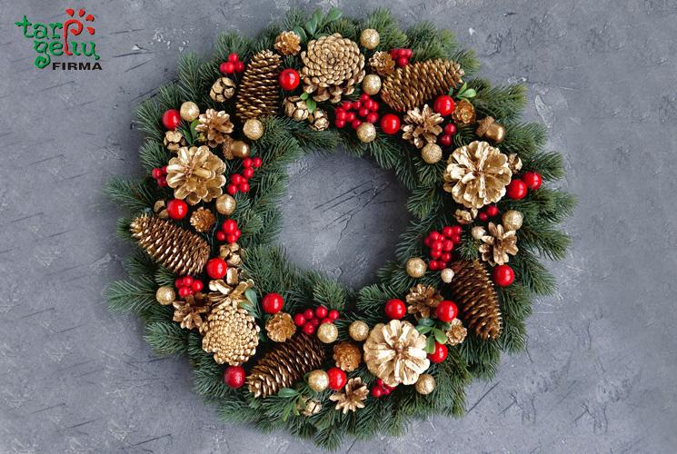 Apie jaukų kalėdinį vainiką